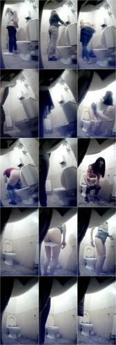 Women Pissing in the Office Center Toilet [UltraHD/2K 1280P]