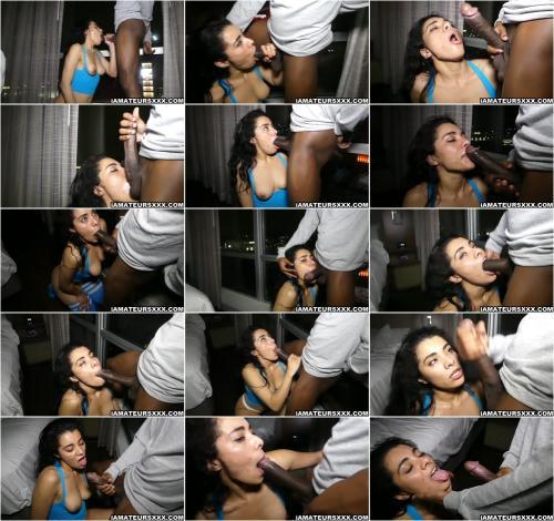 Maya Morena - Shows Us How She Sucks And Gags On a Nice Hard Bbc [HD 720P]