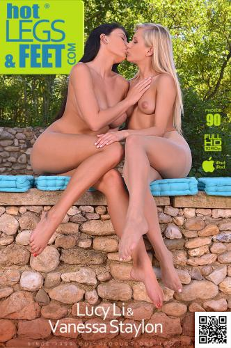 A Breeze And More - Busty Brunette Sucks Blonde's Toes Video with Lucy Li & Vanessa Staylon