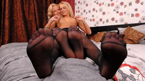 Lesbian pantyhose hi-jinks! Video with Ivana Sugar & Ellen