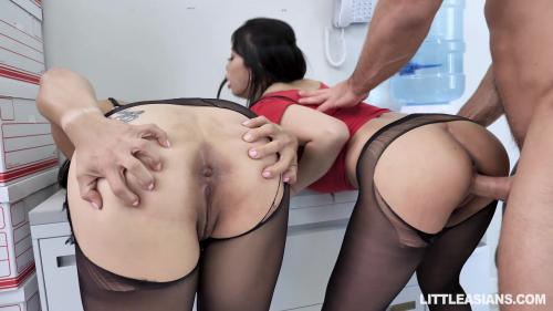 LittleAsians Nyomi Star And Jade Kush Asian Labia For Lunch [FullHD 1080P]