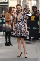 LILY COLLINS at AOL Build in New York 4/8/19